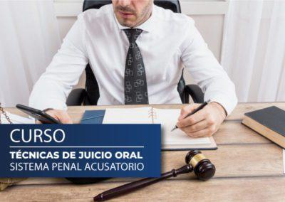 Curso Técnicas de Juicio oral –  Sistema Penal Acusatorio
