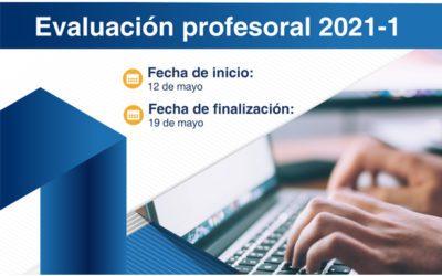Evaluación profesoral 2021-1