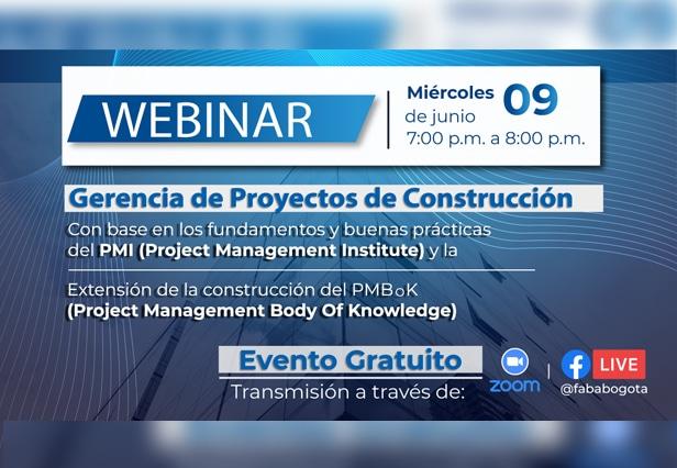 Webinar – Gerencia de proyectos de construcción.